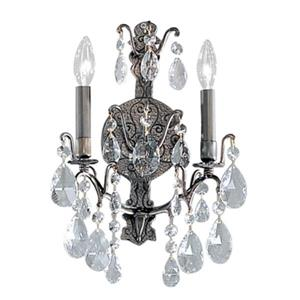 Classic Lighting Versailles Antique Bronze Swarovski Spectra 2-Light Wall Sconce