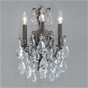Classic Lighting Versailles Antique Bronze Crystalique 3-Light Transitional Wall Sconce