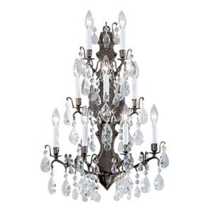 Classic Lighting Versailles Antique Bronze Crystalique 9-Light Transitional Wall Sconce