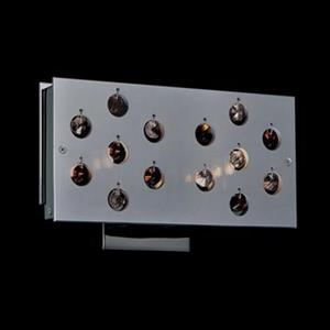Classic Lighting 2 Light Infinity Black Chrome Amber Wall Sconce