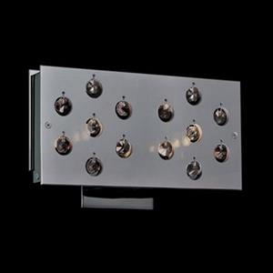 Classic Lighting 2 Light Infinity Black Chrome Crystalique-Plus Wall Sconce