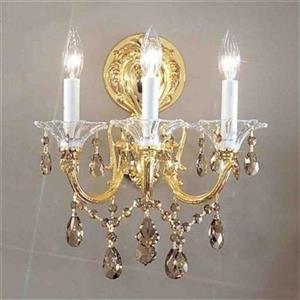 Classic Lighting 57003 3 Light Via Veneto Wall Sconce,57003