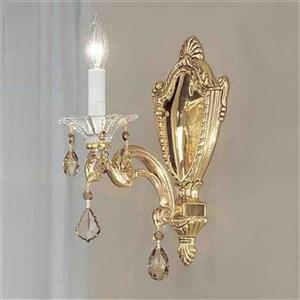 Classic Lighting Via Firenze Silver Plate Italian Rock Clear Wall Sconce