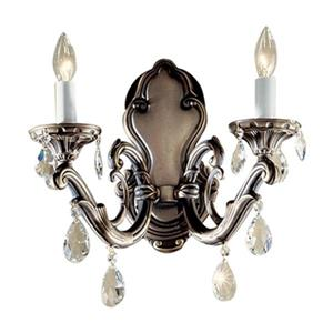 Classic Lighting Princeton II Millennium Silver 2-Light Wall Sconce