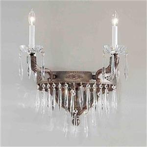 Classic Lighting Duchess Bronze/Black Patina Italian 2-Light Wall Sconce