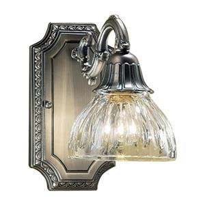 Classic Lighting Majestic 9-in x 6-in Aged Pewter Wall Sconce