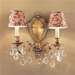 Classic Lighting Chateau Aged Pewter 2-Light Wall Sconce