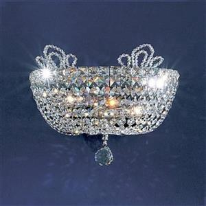 Classic Lighting Crown Jewels 10-in x 13-in Gold Plated/Crystalique-Plus 2-Light Wall Sconce