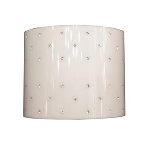 Classic Lighting Felicia Brushed Steel/ Strass Ebony and Ivory 2-Light Wall Sconce
