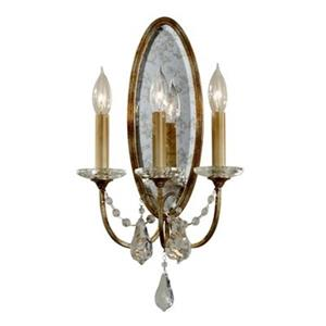 Feiss 19-in x 10.50 -in Oxidized Bronze 3-Light Valentina Wall Sconce