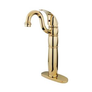 Elements of Design Baltimore 14.25-in Polished Brass Single Hole Vessel Faucet
