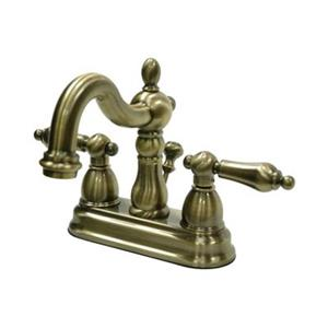 Elements of Design Heritage 4.75-in Vintage Brass Centerset Faucet