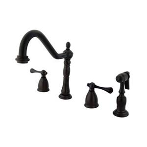 Elements of Design New Orleans Adjustable Oil-Rubbed Bronze Kitchen Faucet With Sprayer