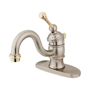 Elements of Design Hot Springs 3.12-in Satin Nickel/Polished Brass Single Handle Faucet