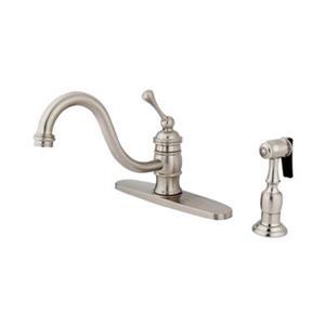 Elements of Design Hot Springs Buckingham Satin Nickel Kitchen Faucet With Sprayer