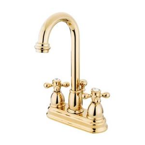 Elements of Design Chicago 10-in Polished Brass Deck Centerset Faucet