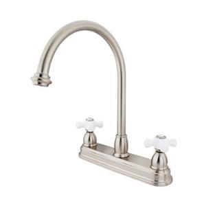 Elements of Design Chicago Nickel Kitchen Faucet