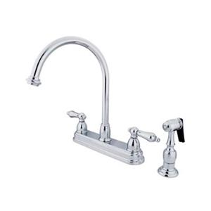 Elements of Design Chicago Chrome Kitchen Faucet With Sprayer