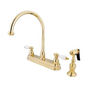 Elements of Design Chicago Polished Brass Kitchen Fauce With Sprayer