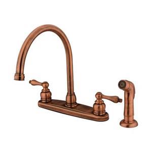 Elements of Design Antique Copper Victorian Goose Neck Kitchen Faucet
