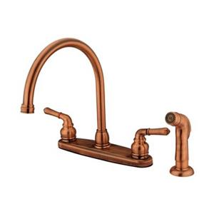 Elements of Design Magellan Copper Kitchen Faucet With Sprayer