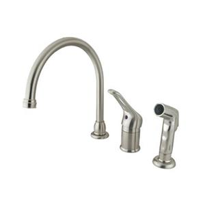 Elements of Design Wyndham Loop Handle Satin Nickel Kitchen Faucet with Sprayer
