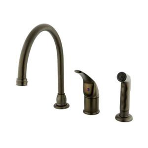 Elements of Design Single Handle Oil-Rubbed Bronze Kitchen Faucet With Sprayer