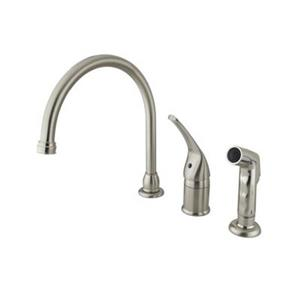 Elements of Design Single Handle Satin Nickel Kitchen Faucet with Sprayer