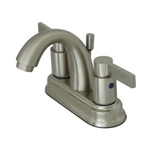 Elements of Design NuvoFusion 4-in Satin Nickel High Rise Spout Centerset Faucet