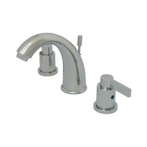 Elements of Design NuvoFusion 6-in Polished Chrome Goose Neck Spout Widespread Faucet