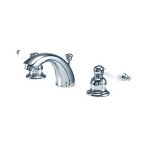 Elements of Design 3.5-in Satin Nickel/Chrome Mini Widespread Faucet
