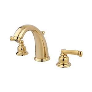 Elements of Design Magellan 4.5-in Polished Brass Twin Handle Widespread Faucet