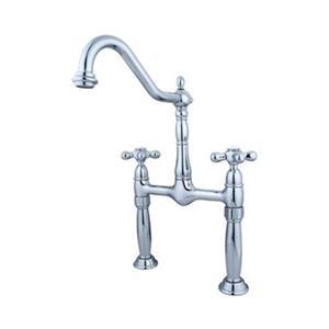 Elements of Design Victorian Chrome Vessel Sink Widespread Faucet