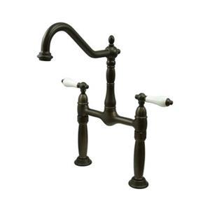 Elements of Design Victorian Dark Bronze Vessel Sink Widespread Faucet