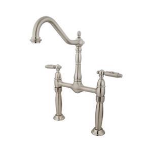Elements of Design Satin Nickel Vessel Sink Widespread Faucet