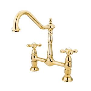 Elements of Design Polished Brass Kitchen Faucet
