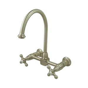 Wall Mounted Kitchen Faucet with Lever Handles