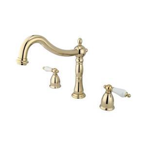 Elements of Design Polished Brass Roman Tub Filler