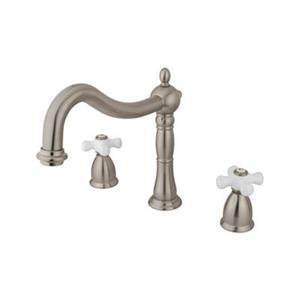 Elements of Design Satin Nickel Cross Handle Roman Tub Filler