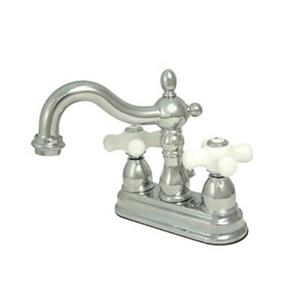 Elements of Design Polished Chrome and Ceramic Twist 2-Handle Centerset Faucet