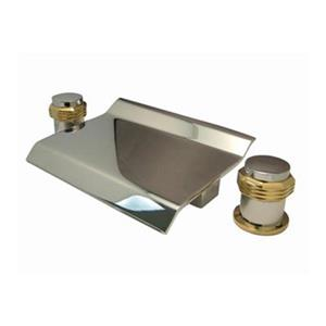 Elements of Design Chrome/Polished Brass Two Handle Roman Tub Faucet