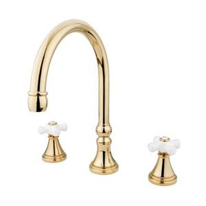 Elements of Design Polished Brass Two Handle Roman Tub Filler