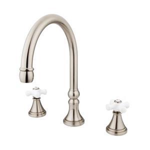 Elements of Design Satin Nickel Two Handle Roman Tub Filler
