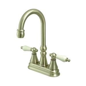 Bar Faucet without Pop-Up Rod and with Lever Handles
