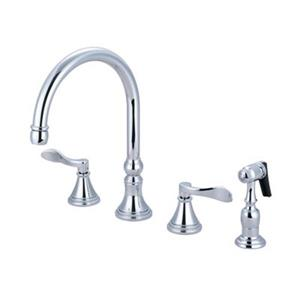 Elements of Design Chrome Two Handle Kitchen Faucet with Sprayer