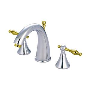 Elements of Design Brass/Chrome Widespread Lavatory Faucet