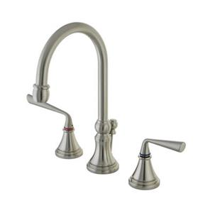 Silver Sage Widespread Lavatory Faucet With Brass Pop-Up