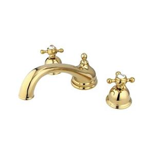 Elements of Design Chicago Polished Brass Widespread Roman Tub Filler