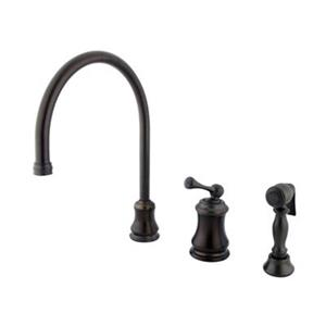 Elements of Design Chicago Oil-Rubbed Bronze Widespread Single Handle Kitchen Faucet