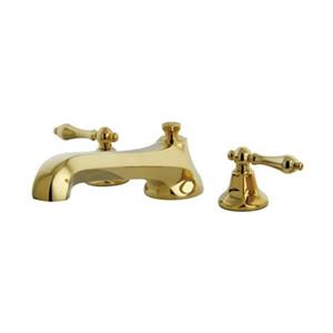 Elements of Design New York 8-in Polished Brass Widespread Roman Tub Filler